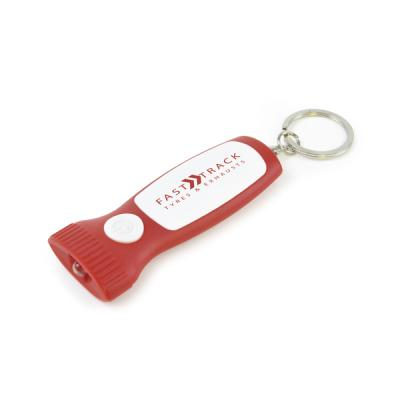 Image of Flat Plastic Torch Keyring
